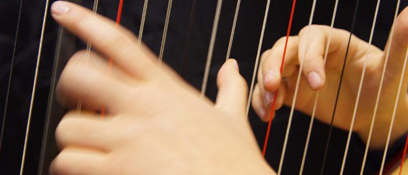 Richtig Begleiten auf der Harfe